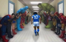 Superman, Batman Sampai Hulk pun Tunduk Ketika Maradona Melintas - JPNN.com