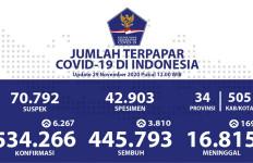 Kasus Positif COVID-19 di Indonesia Kian Bertambah, Tetapi yang Sembuh Juga Makin Banyak - JPNN.com
