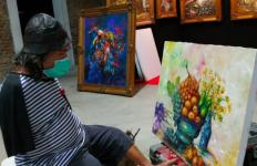 1.000 Lukisan Dipamerkan di Rest Area Banjaratma Tol PPTR - JPNN.com