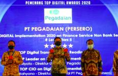 PT Pegadaian Borong 4 Penghargaan TOP DIGITAL Innovation Award 2020 - JPNN.com