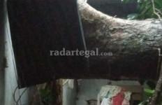 Tiba-Tiba Pohon Tumbang Menimpa Rumah Husen dan Duriah - JPNN.com