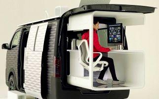 Keren, Nissan Sulap Mobil Van jadi Ruang Kerja Berjalan