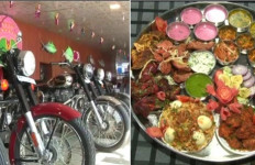 Restoran Ini Gelar Lomba Makan Berhadiah Motor Royal Enfield Bullet 350 - JPNN.com