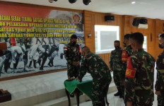 Pasukan Tombak Sakti Gantikan Yonif Caraka Yudha di Sektor Selatan - JPNN.com