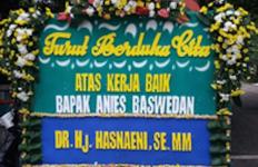 Heboh, Wanita Emas Ini Kirimi Anies Karangan Bunga, Pakai Kata 'Berdukacita' - JPNN.com