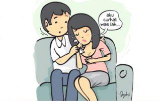 Istri Bawa Pria Lain ke Ruang Tengah saat Suami Bersusah Payah