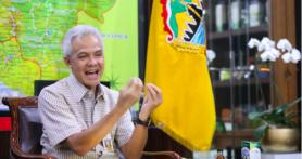 Pak Ganjar Semringah Dapat Laporan soal Penanganan Covid-19 di Jateng