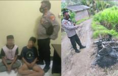Diteriaki Maling, 2 Pemuda Hampir Tewas Diamuk Massa, Motor Dibakar - JPNN.com