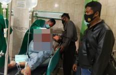 Bripka Ade Prayoga Bersimbah Darah Dibacok Riko Supandi, Pakai Parang - JPNN.com