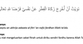 Doa Niat Zakat Fitrah untuk Diri Sendiri, Istri, Keluarga dan Anak