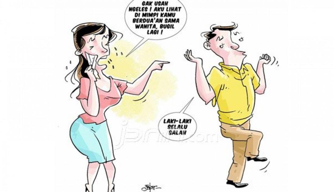 Mimpi sering dianggap sebagai sebuah pertanda kehidupan. Tak heran, bila Karin (37) terlalu ekspresif kala bermimpi suaminya telanjang dengan wanita lain. Tanpa alasan, ia pun menggugat cerai suaminya, Donjuan (39) di Pengadilan Agama (PA), Klas 1A Surabaya. Foto: Fajar/Radar SurabayaFoto: - JPNN.com