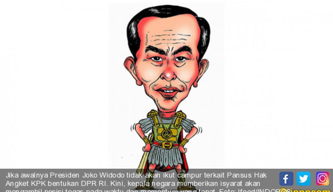 Jika awalnya Presiden Joko Widodo tidak akan ikut campur terkait Pansus Hak Angket KPK bentukan DPR RI. Kini, kepala negara memberikan isyarat akan mengambil posisi tegas pada waktu dan momentum yang tepat. Foto: Ifoed/INDOPOS - JPNN.com