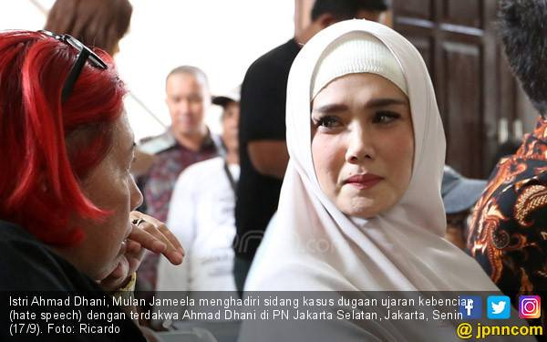 Mulan Jameela Ajak Anak Jenguk Ahmad Dhani di Rutan Medaeng - JPNN.com