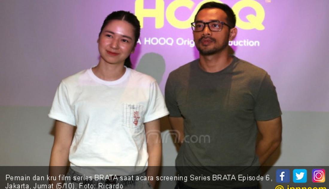 Pemain dan kru film series BRATA saat acara screening Series BRATA Episode 6, Jakarta, Jumat (5/10). Foto: Ricardo - JPNN.com