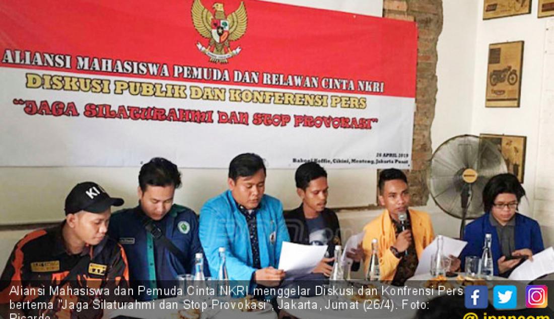Aliansi Mahasiswa dan Pemuda Cinta NKRI menggelar Diskusi dan Konfrensi Pers bertema
