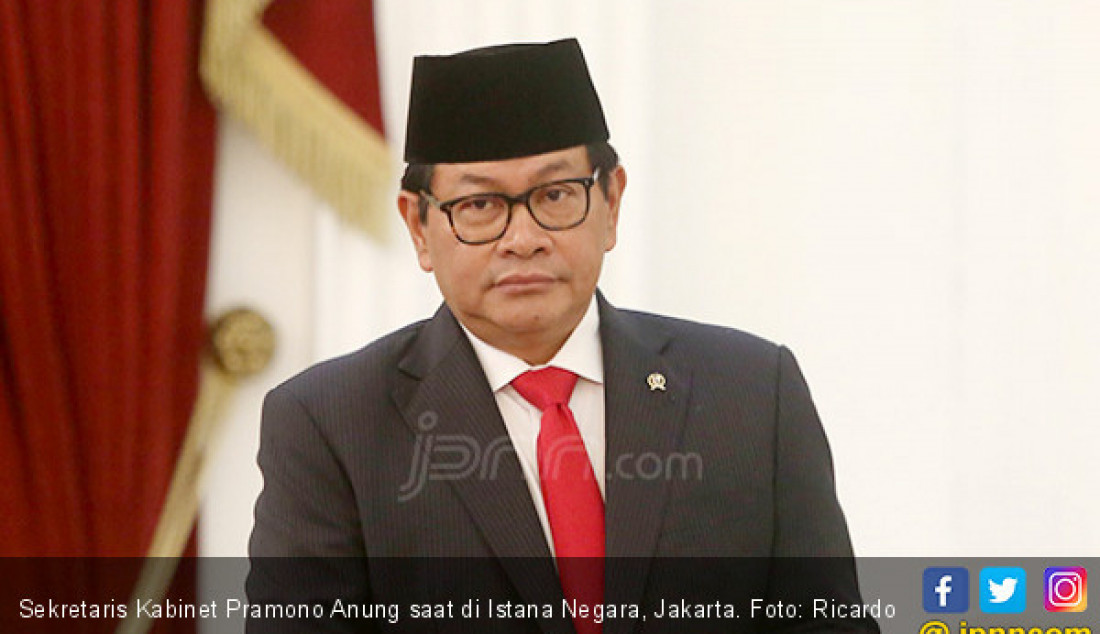 Sekretaris Kabinet Pramono Anung saat di Istana Negara, Jakarta. Foto: Ricardo - JPNN.com