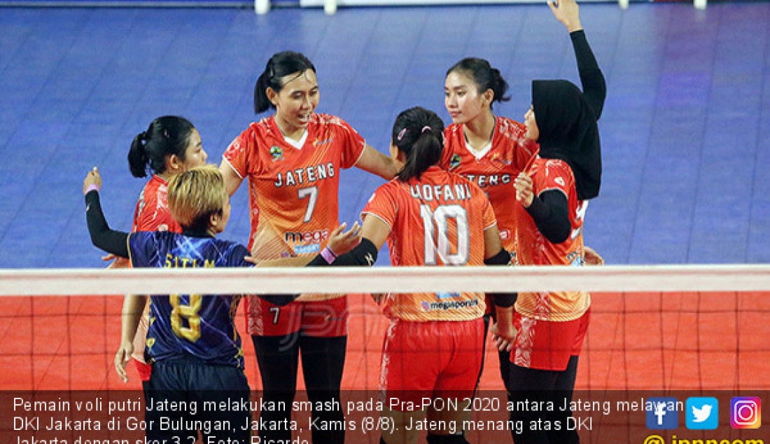 Tim Voli Putri Jateng Taklukkan DKI Jakarta - JPNN.com