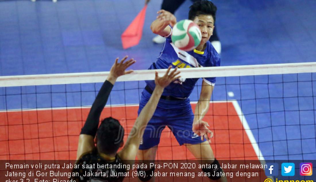 Tim Voli Putra Jabar Kalahkan Tim Voli Putra Jateng - JPNN.com