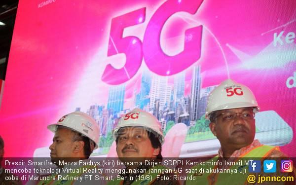 Smartfren Uji Coba Jaringan 5G, Kecepatan Internetnya 8.7 Gbps - JPNN.com