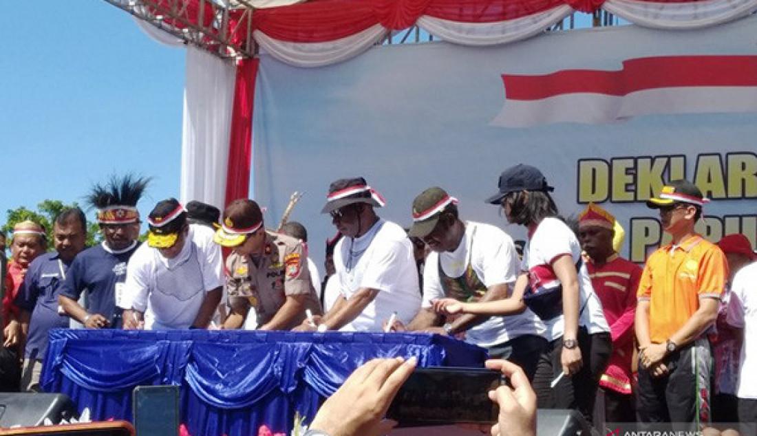 Warga Manokwari Teken Deklarasi Damai - JPNN.com