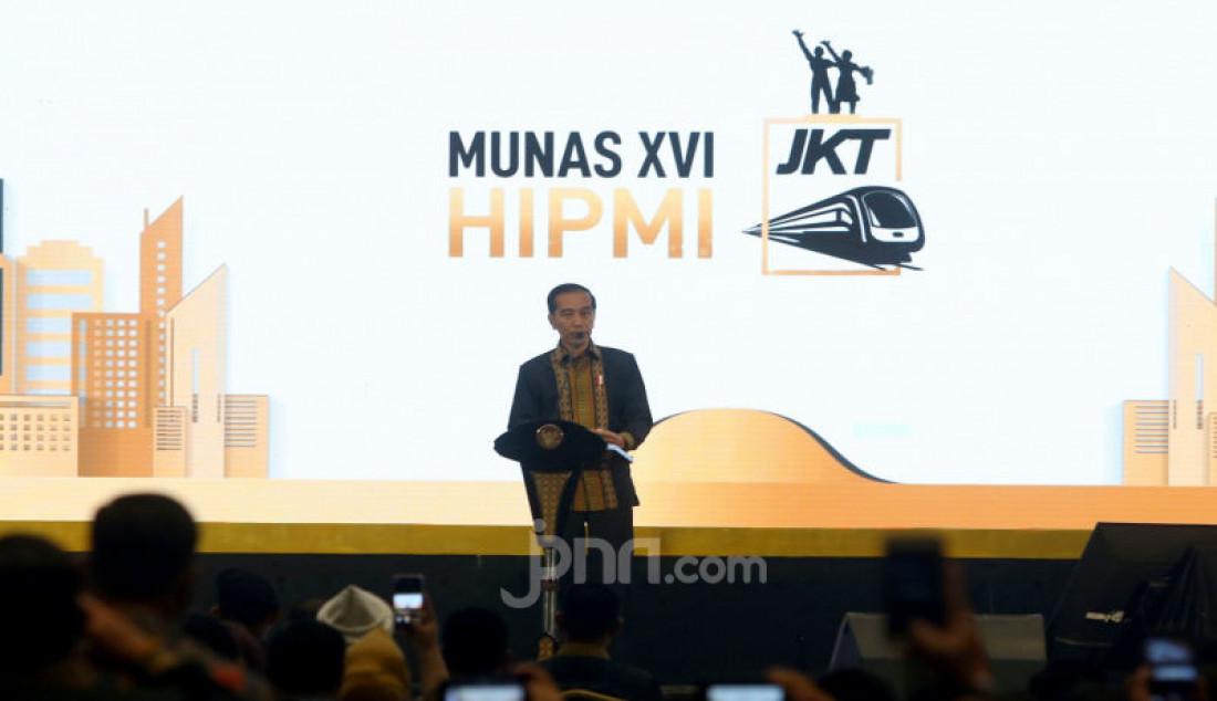 Presiden Jokowi Membuka Musyawarah Nasional XVI HIPMI - JPNN.com