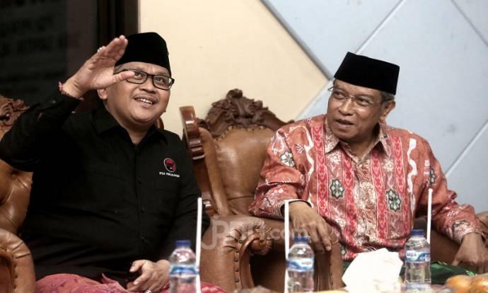 Hasto Kristiyanto Berkunjung ke Pondok Pesantren Luhur Al Tsaqafah