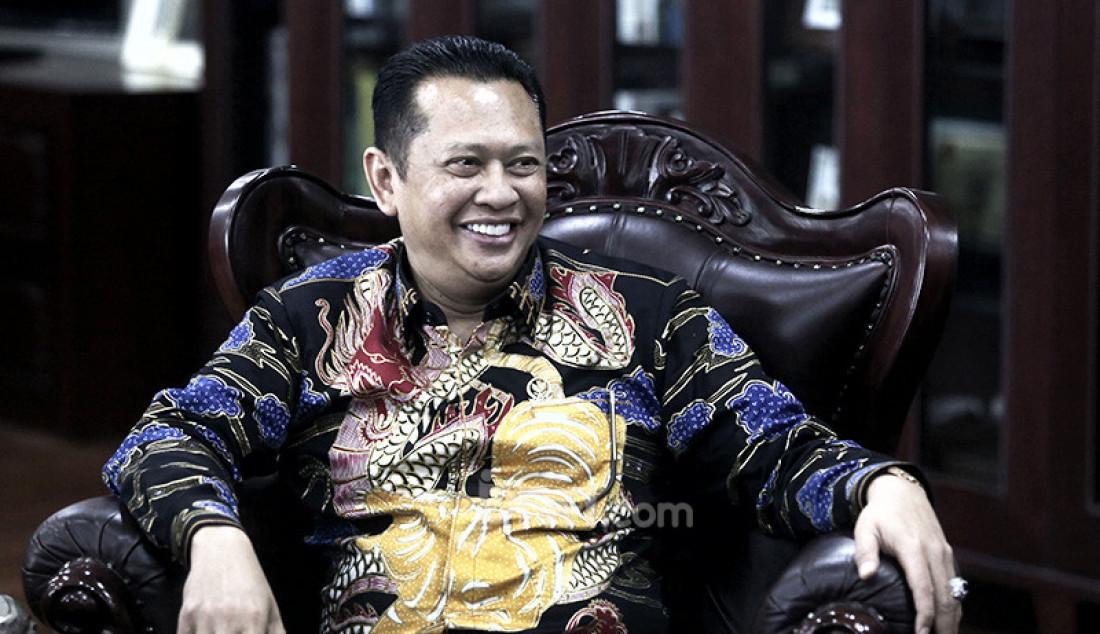 Ketua MPR Bambang Soesatyo saat mengadakan rapat Pimpinan MPR, Jakarta, Rabu (9/10). Rapat membahas persiapan pelantikan Presiden dan Wapres, alat kelengkapan MPR, pembagian tugas pimpinan MPR serta anggaran MPR 2019-2020. Foto: Ricardo - JPNN.com