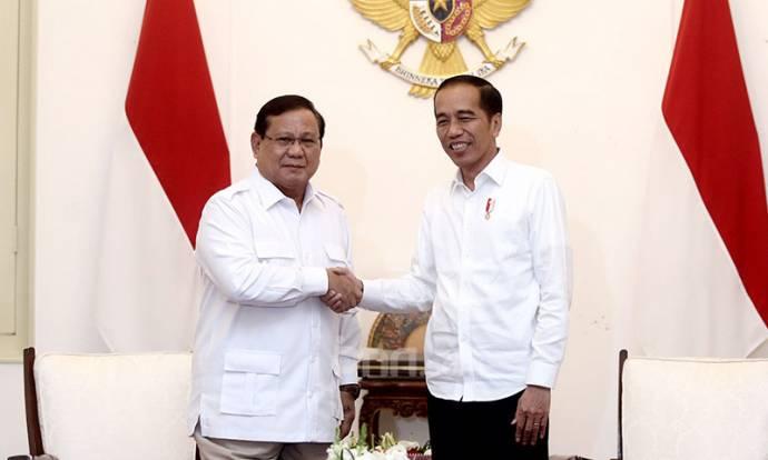 Presiden Jokowi Bertemu dengan Prabowo