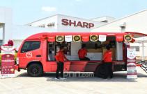 Sharp Indonesia Beri Sentuhan Baru Pada Tampilan Sharp Mobile Service Station - JPNN.com