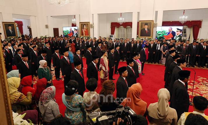 Pelantikan Kabinet Indonesia Maju 2019 - 2024 - JPNN.com