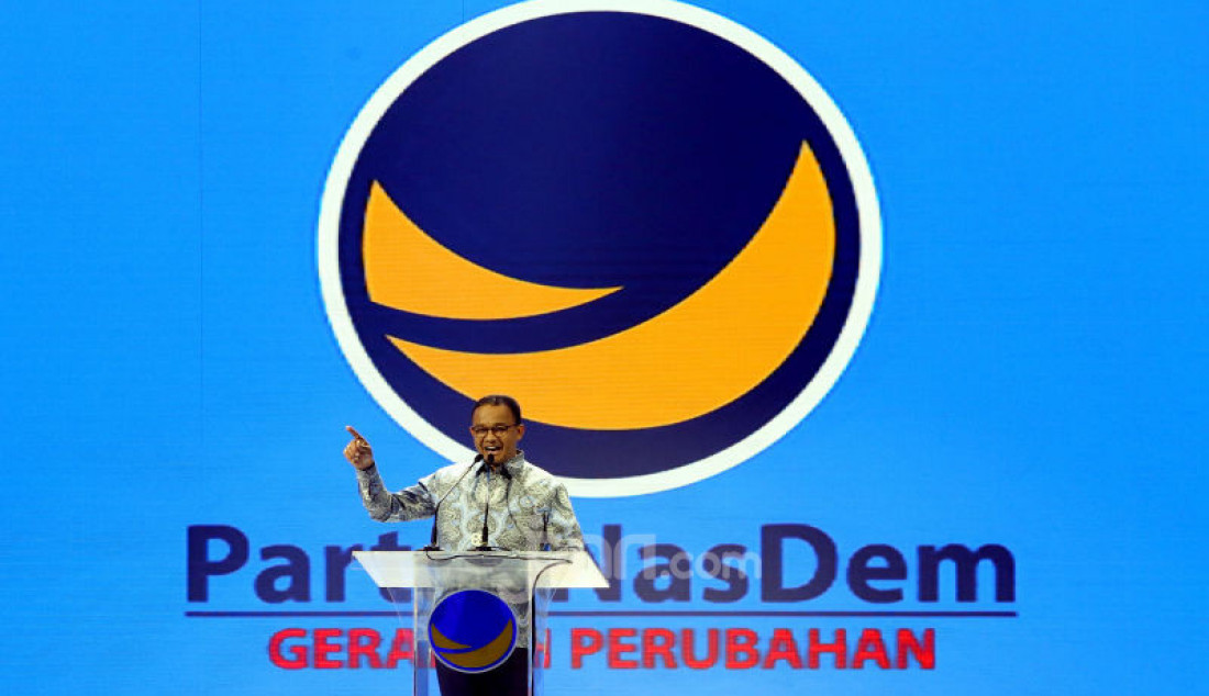 Gubernur DKI Jakarta Anies Baswedan saat berpidato di Kongres II Partai NasDem, Jakarta, Jumat (8/11). Foto: Ricardo - JPNN.com