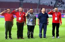 Menpora Bersama Ketum PSSI Saksikan Laga Timnas Indonesia U-19 Melawan Timnas DPR Korea U-19 - JPNN.com