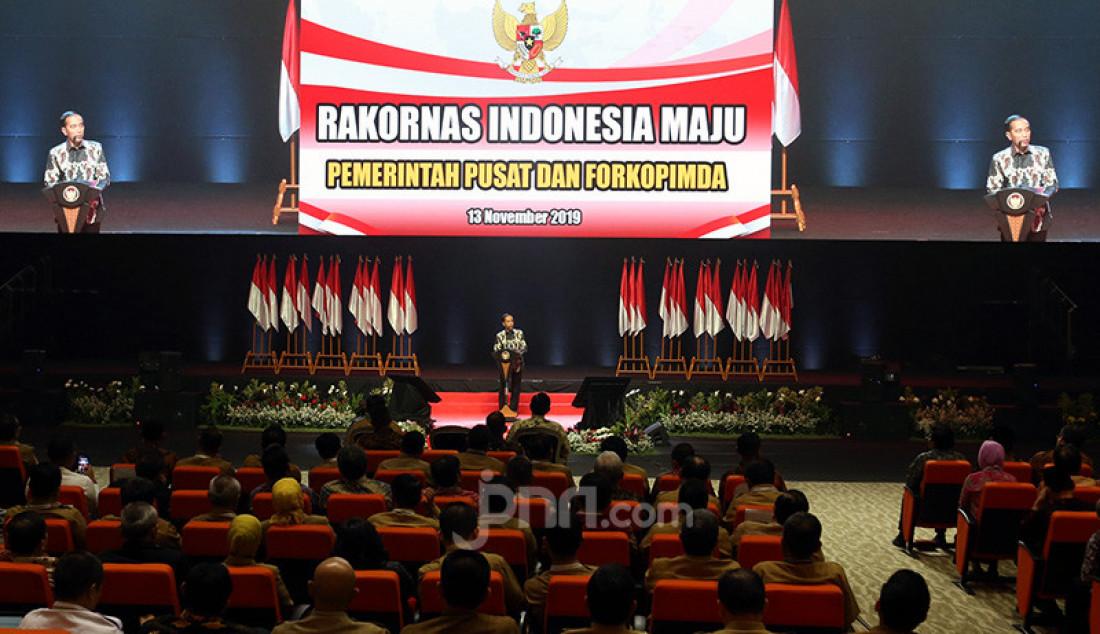 Presiden Joko Widodo Membuka Rakornas Indonesia Maju Pemerintah Pusat dan Forkopimda 2019, Sentul, Jawa Barat, Rabu (13/11). Foto: Ricardo - JPNN.com