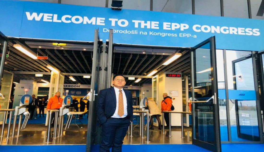Wakil Ketua DPR RI Abdul Muhaimin Iskandar saat acara Kongres European People's Party (Partai Masyarakat Eropa) bertemakan lingkungan hidup dan perubahan iklim, di Zagreb, Kroasia, pada tanggal 19-21 November 2019. Foto: Dok. Pribadi For JPNN.com - JPNN.com