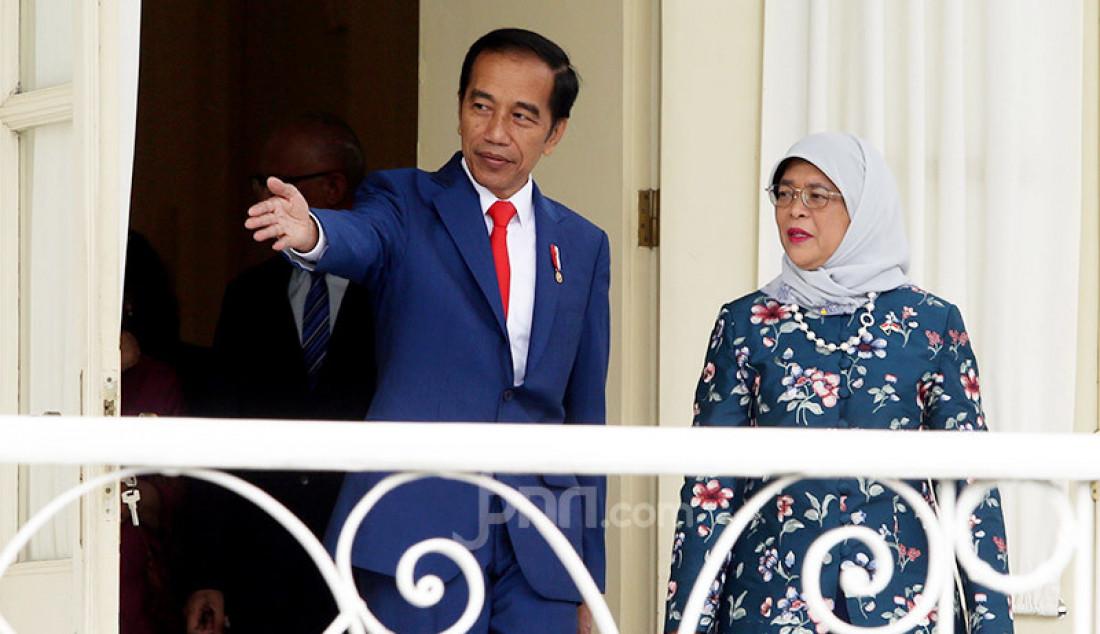Jokowi Sambut Presiden Republik Singapura Halimah Yacob - JPNN.com