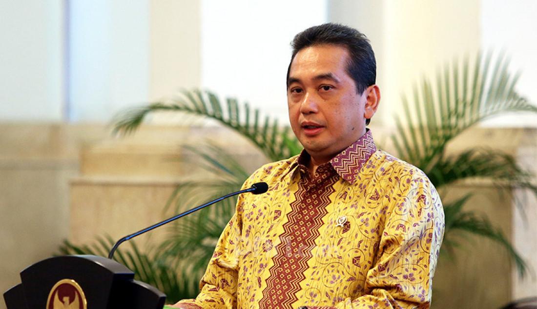 Menteri Perdagangan, Agus Suparmanto berbicara pada pembukaan rapat kerja Kementerian Perdagangan Tahun 2020 di Istana Negara, Jakarta, Rabu (4/3). Foto: Ricardo - JPNN.com