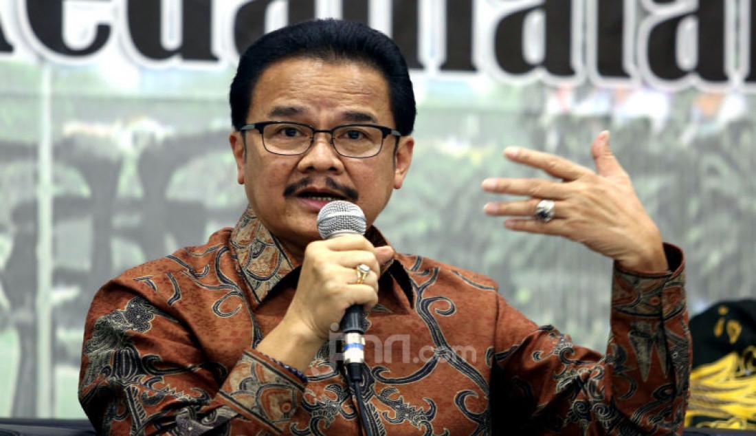 Ketua Komite I DPD Agustin Teras Narang menjadi pembicara pada diskusi MPR Rumah Kebangsaan, Jakarta, Rabu (11/3). Foto: Ricardo - JPNN.com