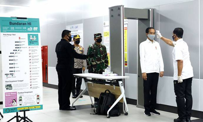 Presiden Jokowi Tinjau Kesiapan New Normal