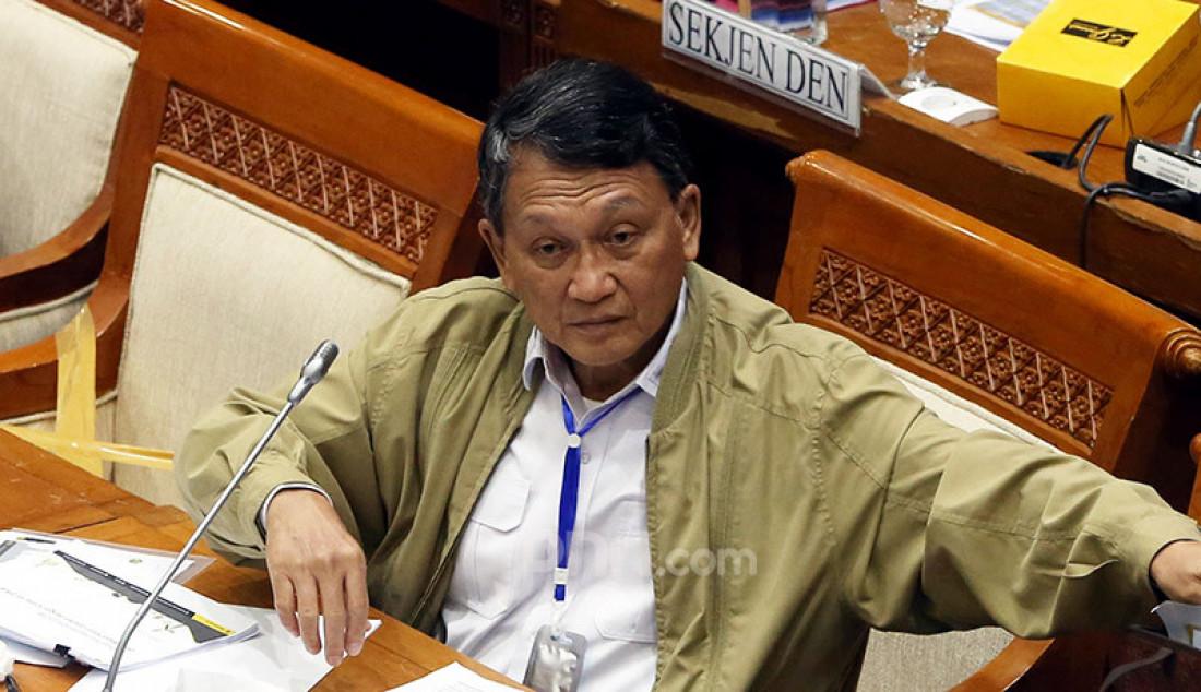 Menteri ESDM Arifin Tasrif saat rapat kerja dengan Komisi VII DPR, Jakarta, Selasa (23/6). Foto: Ricardo - JPNN.com