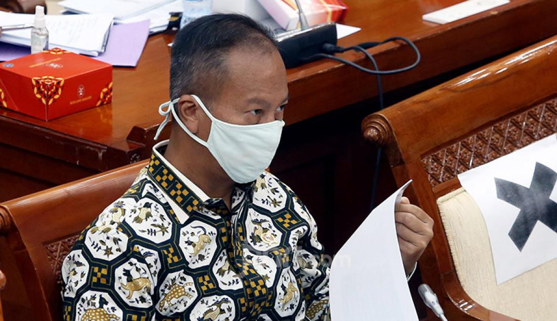 Menperin Agus Gumiwang Kartasasmita saat rapat Kerja dengan Komisi VI DPR, Jakarta, Selasa (23/6). Rapat tersebut membahas RKA-K/L & RKP K/L Tahun 2021. Foto: Ricardo - JPNN.com