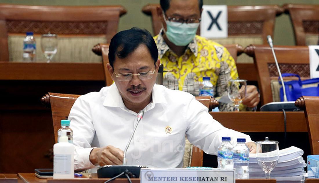 Menteri Kesehatan (Menkes) Terawan Agus Putranto saat rapat kerja dengan Komisi IX DPR, Jakarta, Selasa (23/6). Rapat tersebut membahas RKA K/L dan RKP K/L Tahun 2021. Foto: Ricardo - JPNN.com