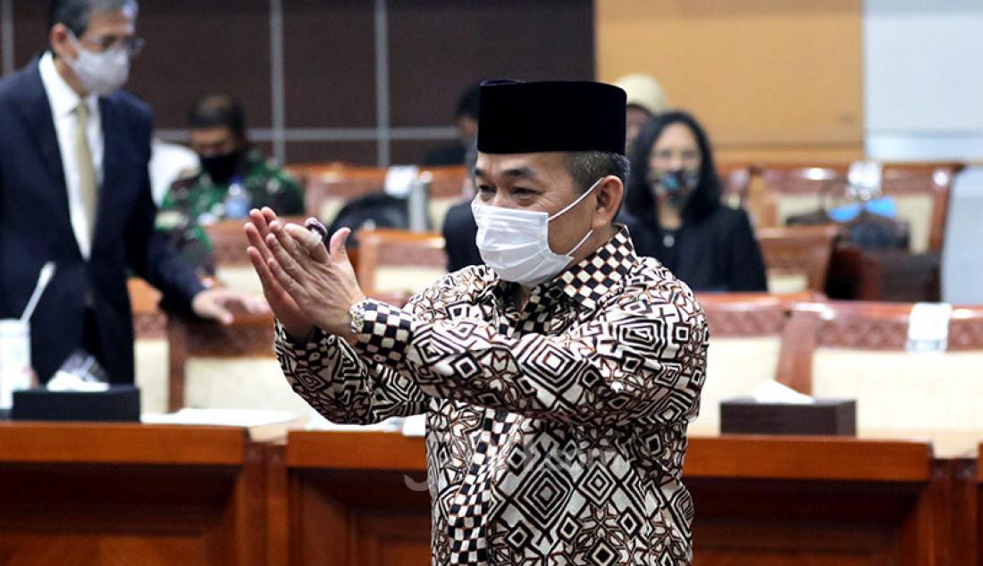 Anggota Komisi I DPR RI Jazuli Juwaini mengikuti mengikuti rapat kerja dengan Wamenhan, Wanmenlu dan Kemenkominfo, Jakarta, Rabu (2/9). Rapat ini membahas evaluasi anggaran 2019. Foto: Ricardo - JPNN.com