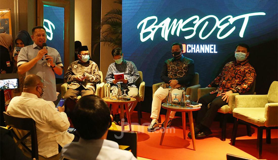 Ketua MPR Bambang Soesatyo (Bamsoet) meluncurkan dua buku berjudul