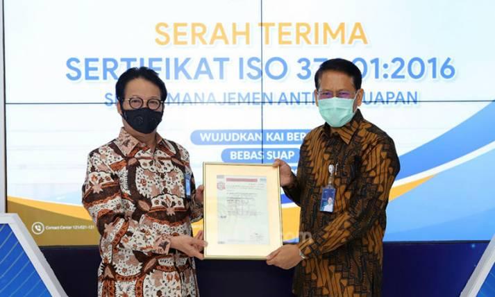 PT KAI Raih Sertifikat ISO 37001:2016 - JPNN.com