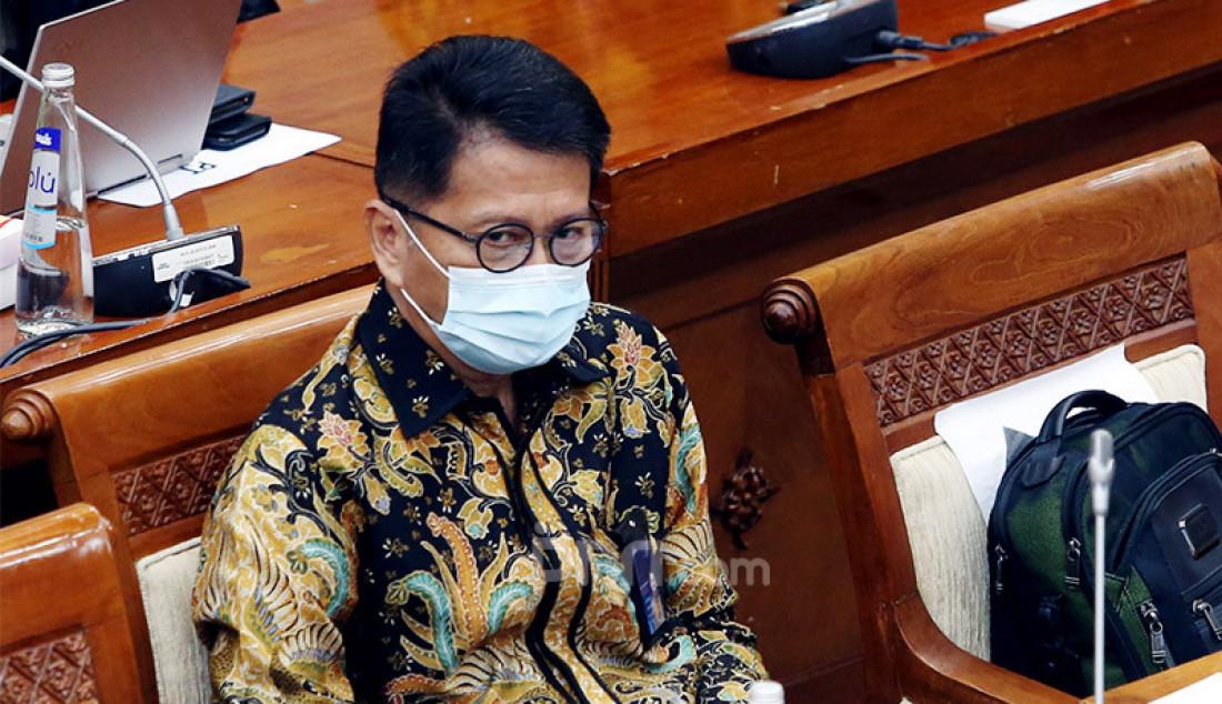 Presiden Direktur Indofarma Arief Pramuhanto menghadiri rapat dengar pendapat Komisi VI DPR di Jakarta, Senin (5/10). Rapat tersebut membahas kondisi aktual Indofarma dalam penanganan Covid-19 dan program Pemulihan Ekonomi Nasional. Foto: Ricardo - JPNN.com