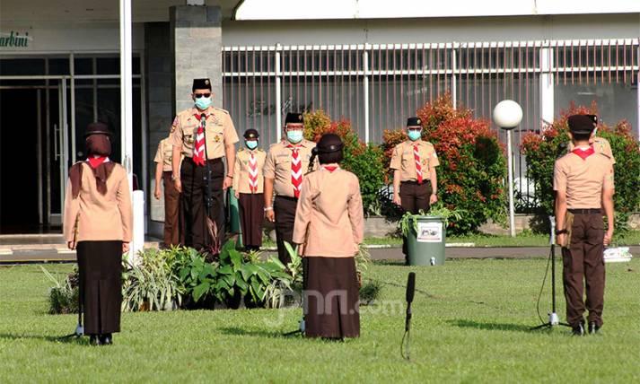 Pak Buwas Pimpin Apel Kesiapsiagaan Pramuka Sukarelawan Satgas Covid-19 - JPNN.com