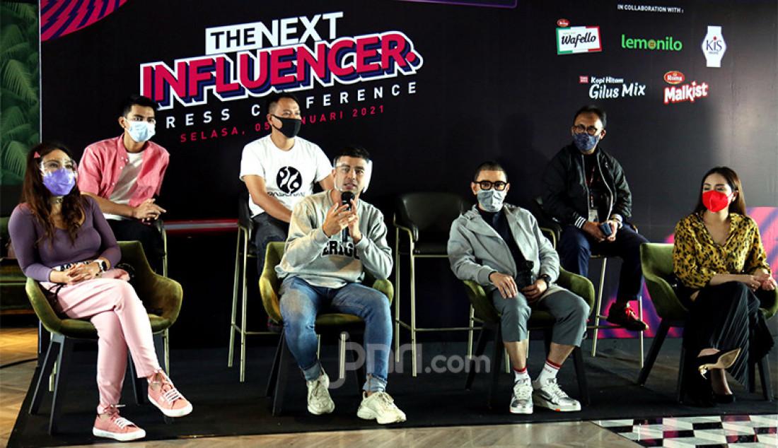 ANTV bersama Rans Entertainment saat menggelar konferensi pers ajang pencarian bakat bertitel THE NEXT INFLUENCER di Jakarta, Selasa (5/1). Foto: Ricardo - JPNN.com