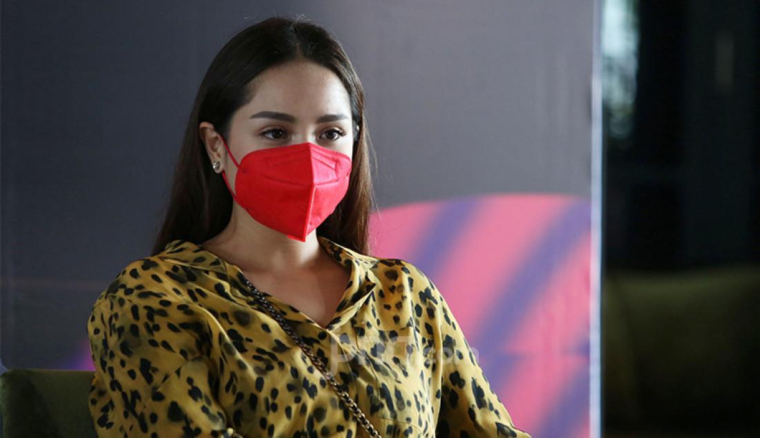 Nagita Slavina saat menghadiri acara konferensi pers THE NEXT INFLUENCER di Jakarta, Selasa (5/1). Foto: Ricardo - JPNN.com