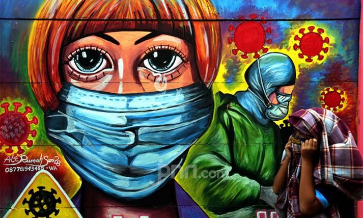 Pakai Mural untuk Ingatkan Warga akan Bahaya Covid-19 - JPNN.com