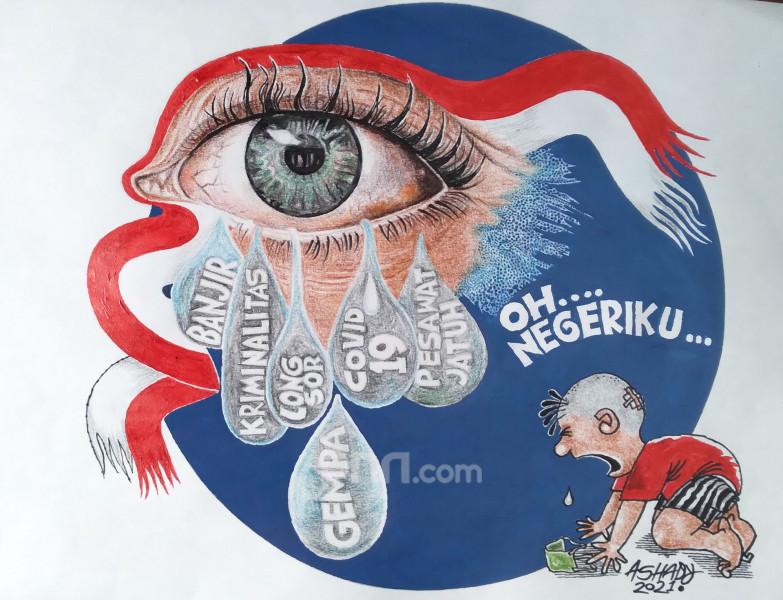 Oh Negeriku. Karikatur oleh Ashady